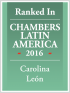 Senior Associate Carolina Leon ranked in Chambers Latin America 2016
